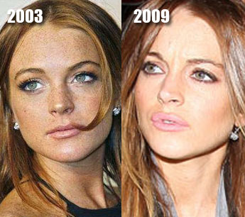 Lindsay Lohan featuring her lips