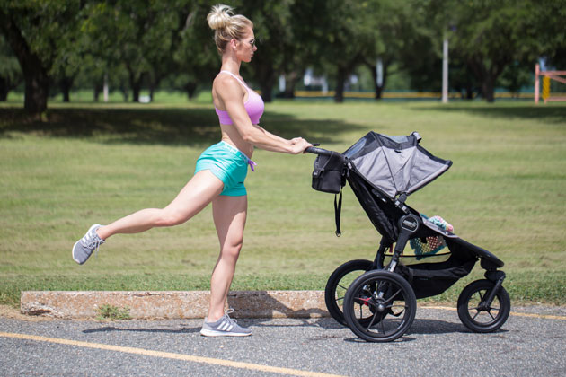 Heather Marsh with Stroller